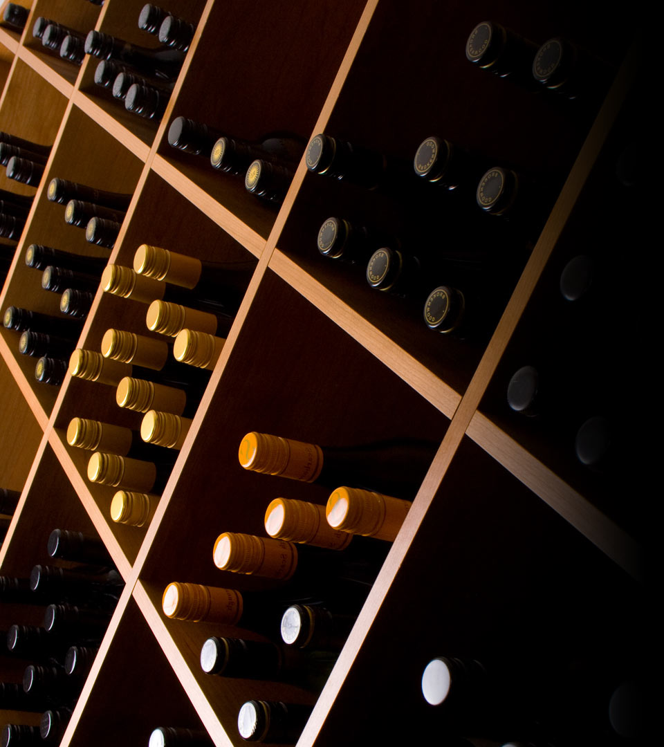 Hunter Wine Online background image wine rack